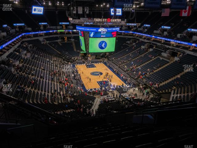 Target Center Section 223 view
