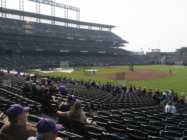 Coors Field Section 118 view