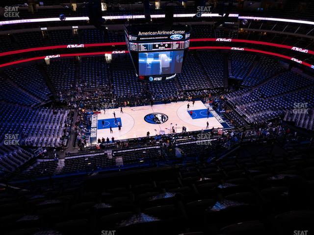American Airlines Center Section 327 view
