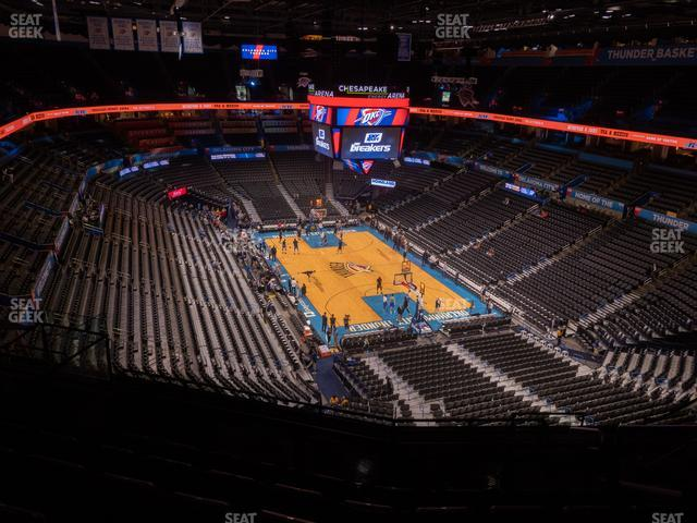 Chesapeake Energy Arena Section 318 view