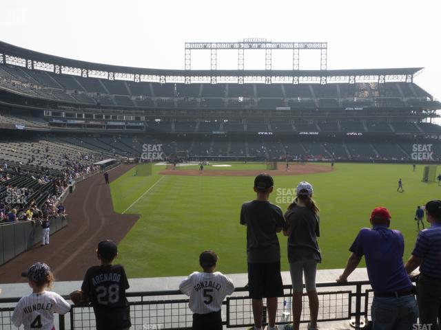 Coors Field Section 108 view