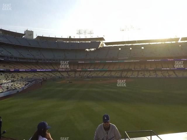 Dodger Stadium Right Field Pavilion 302 view