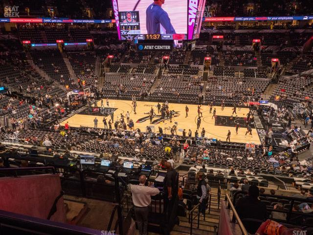 AT&T Center Section 106 view