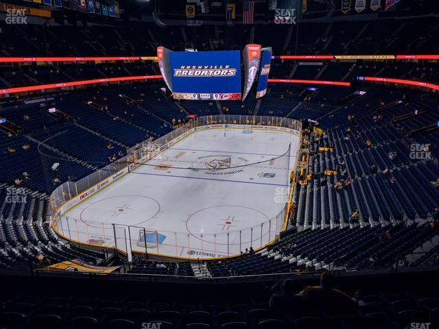 Bridgestone Arena Section 319 view