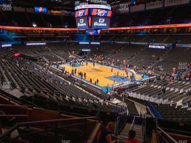 Chesapeake Energy Arena Section 204 view