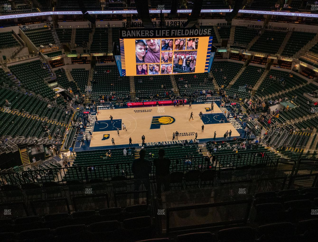 Indiana Pacers at Bankers Life Fieldhouse Section 225 View