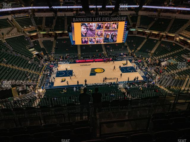 Bankers Life Fieldhouse Section 225 view