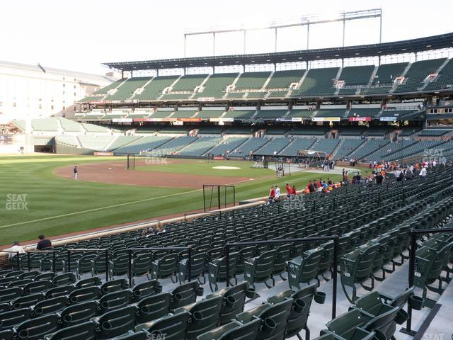 Oriole Park at Camden Yards Section 64 view