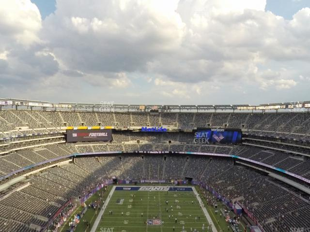 MetLife Stadium Section 301 view