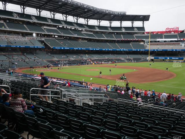 SunTrust Park Section 114 view