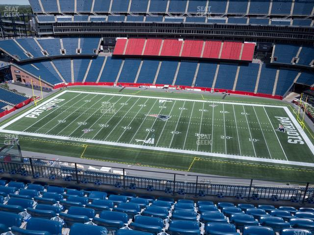 Gillette Stadium Section 330 view