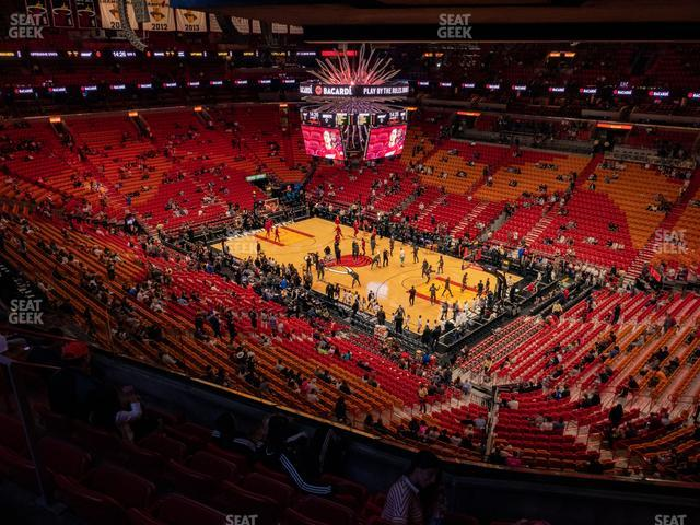 American Airlines Arena Section 305 view