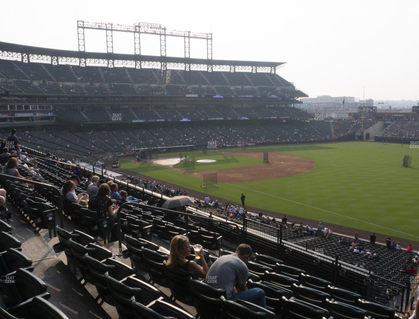 Colorado Rockies at Coors Field Section 215 View