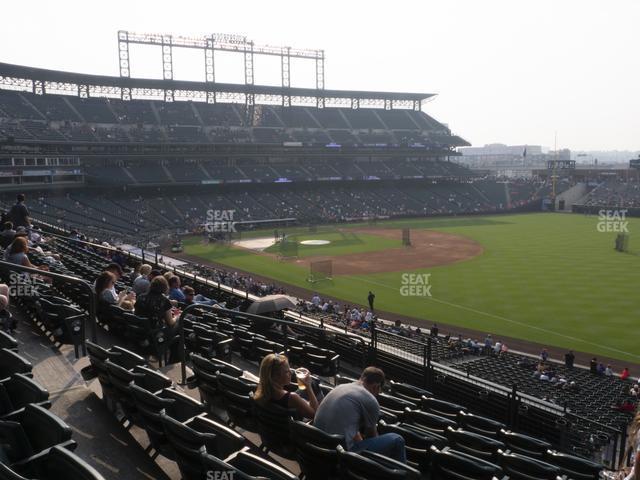 Coors Field Section 215 view