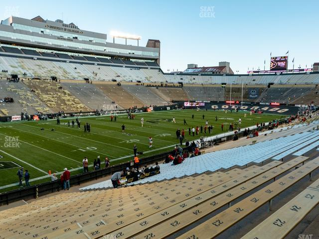 Folsom Field Section 102 view
