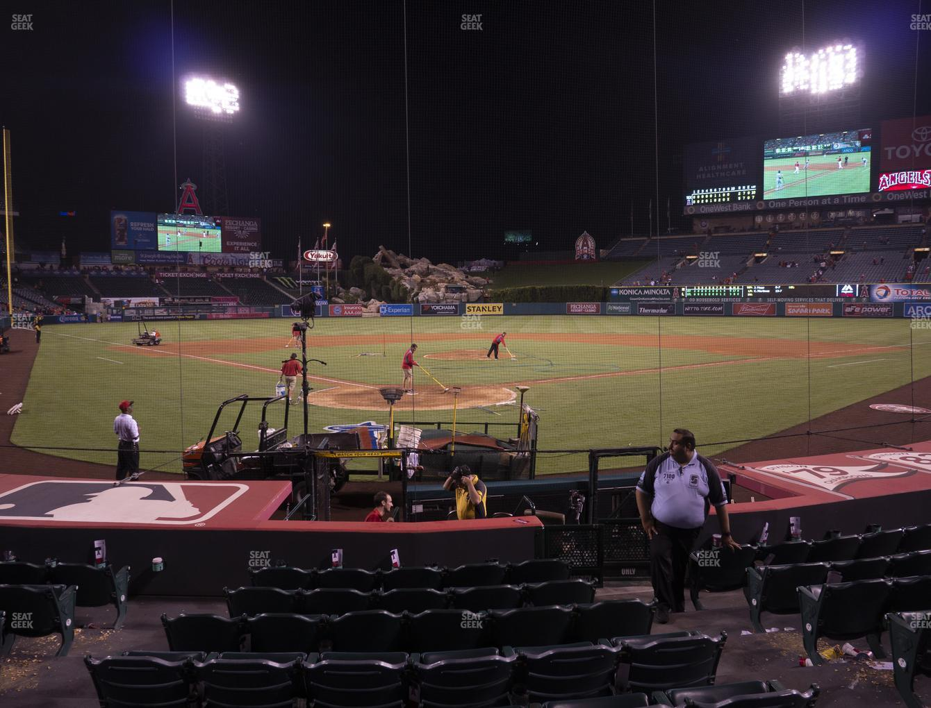 Los Angeles Angels at Angel Stadium of Anaheim Section 119 View