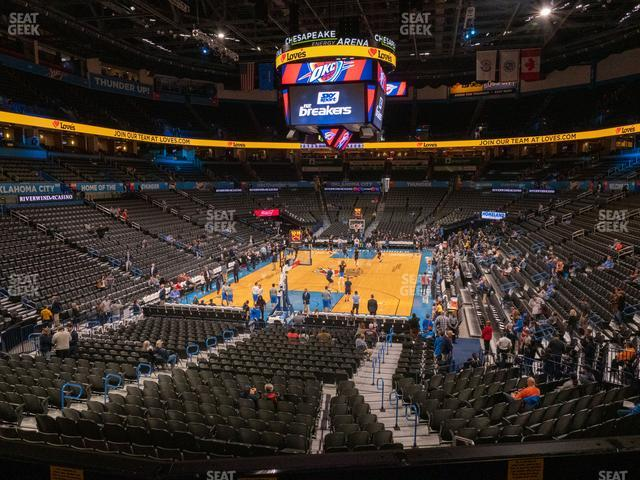 Chesapeake Energy Arena Lower Terrace 229 view