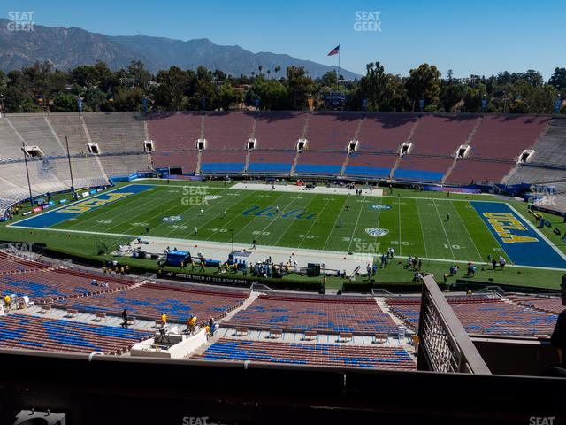 The Rose Bowl Section Club 207 view