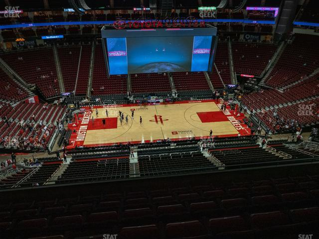 Toyota Center Section 410 view