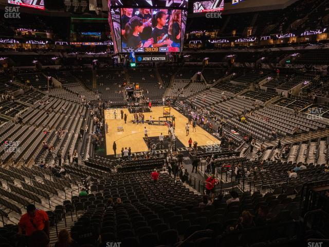 AT&T Center Section 116 view