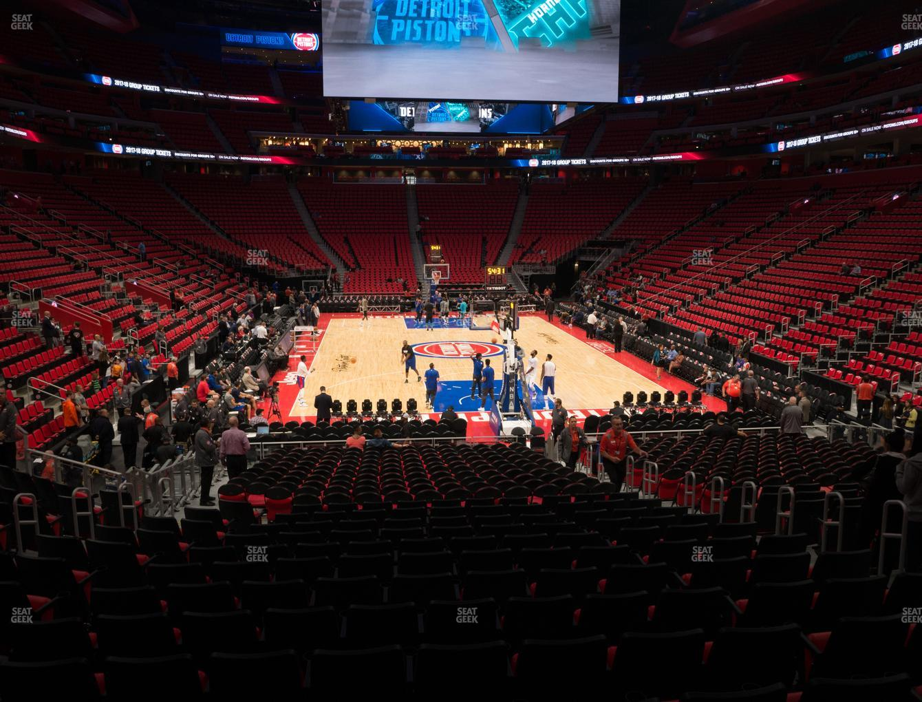 Detroit Pistons at Little Caesars Arena Section 116 View