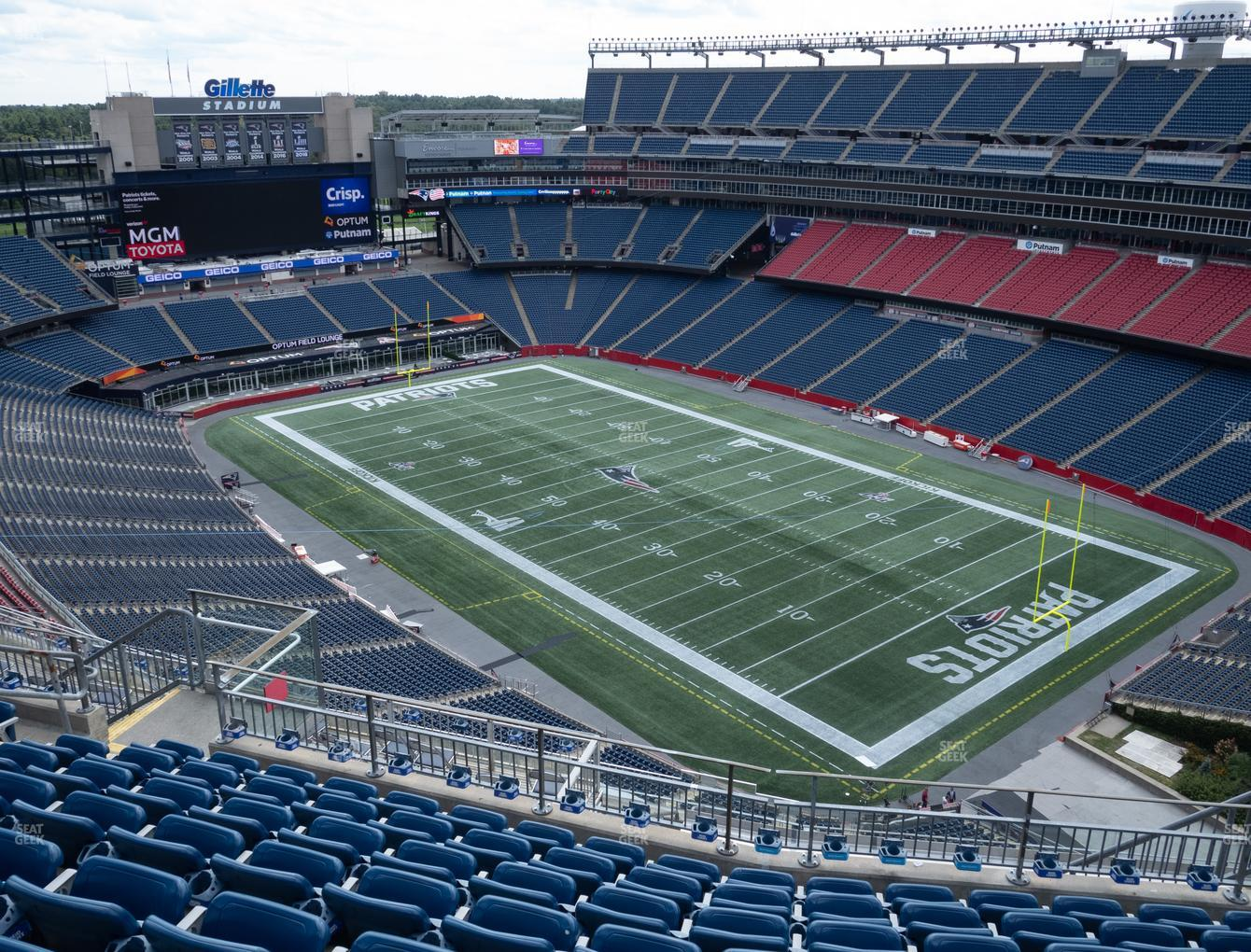 New England Patriots at Gillette Stadium Section 302 View