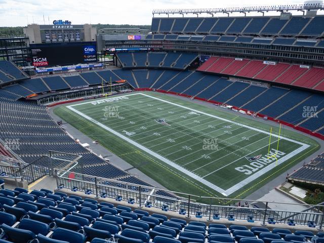 Gillette Stadium Section 302 view