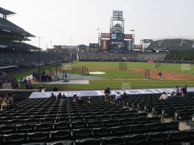 Coors Field Section 125 view
