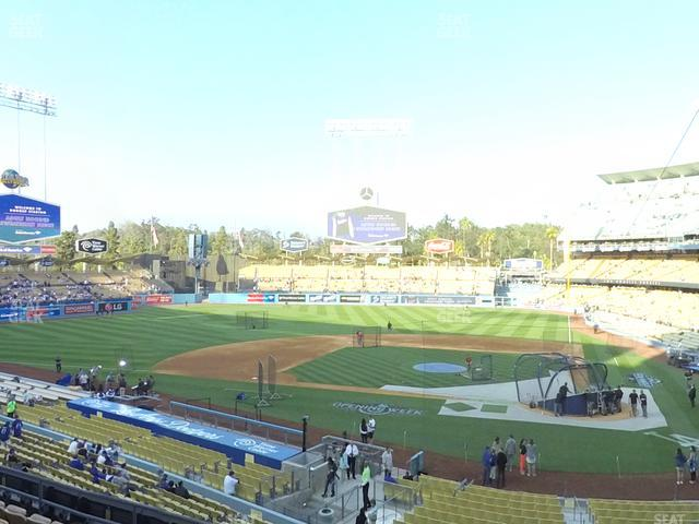 Dodger Stadium Loge Box 119 view