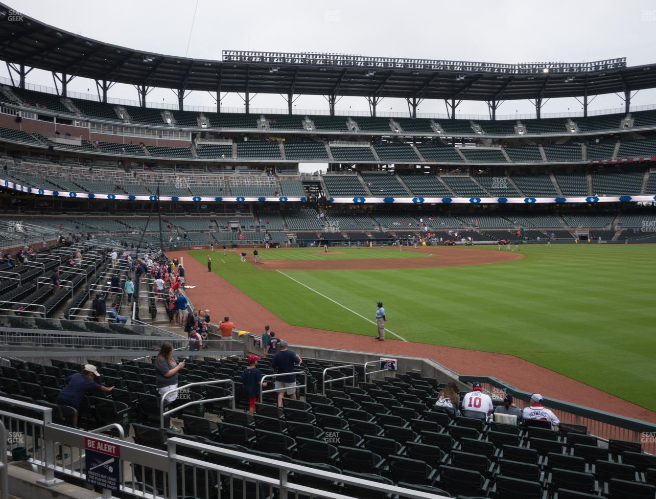 Atlanta Braves at SunTrust Park Section 111 View