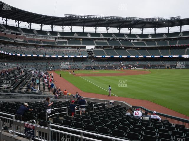 SunTrust Park Section 111 view