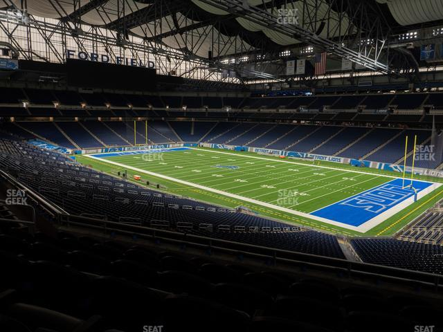 Ford Field Section Club 214 view
