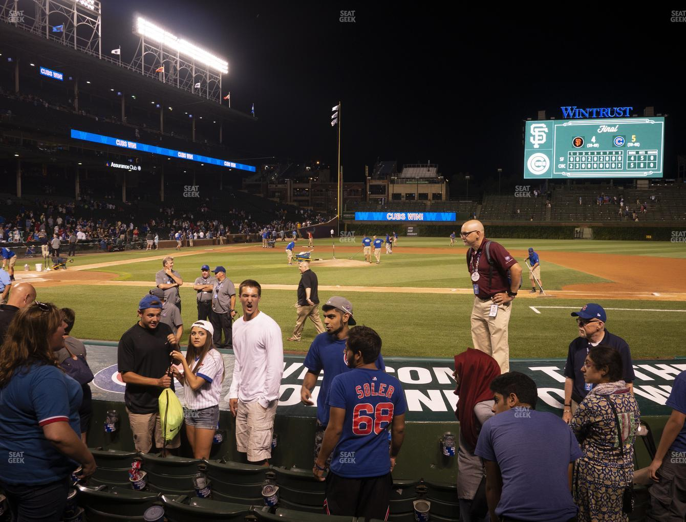 Chicago Cubs at Wrigley Field Club Box Infield 24 View