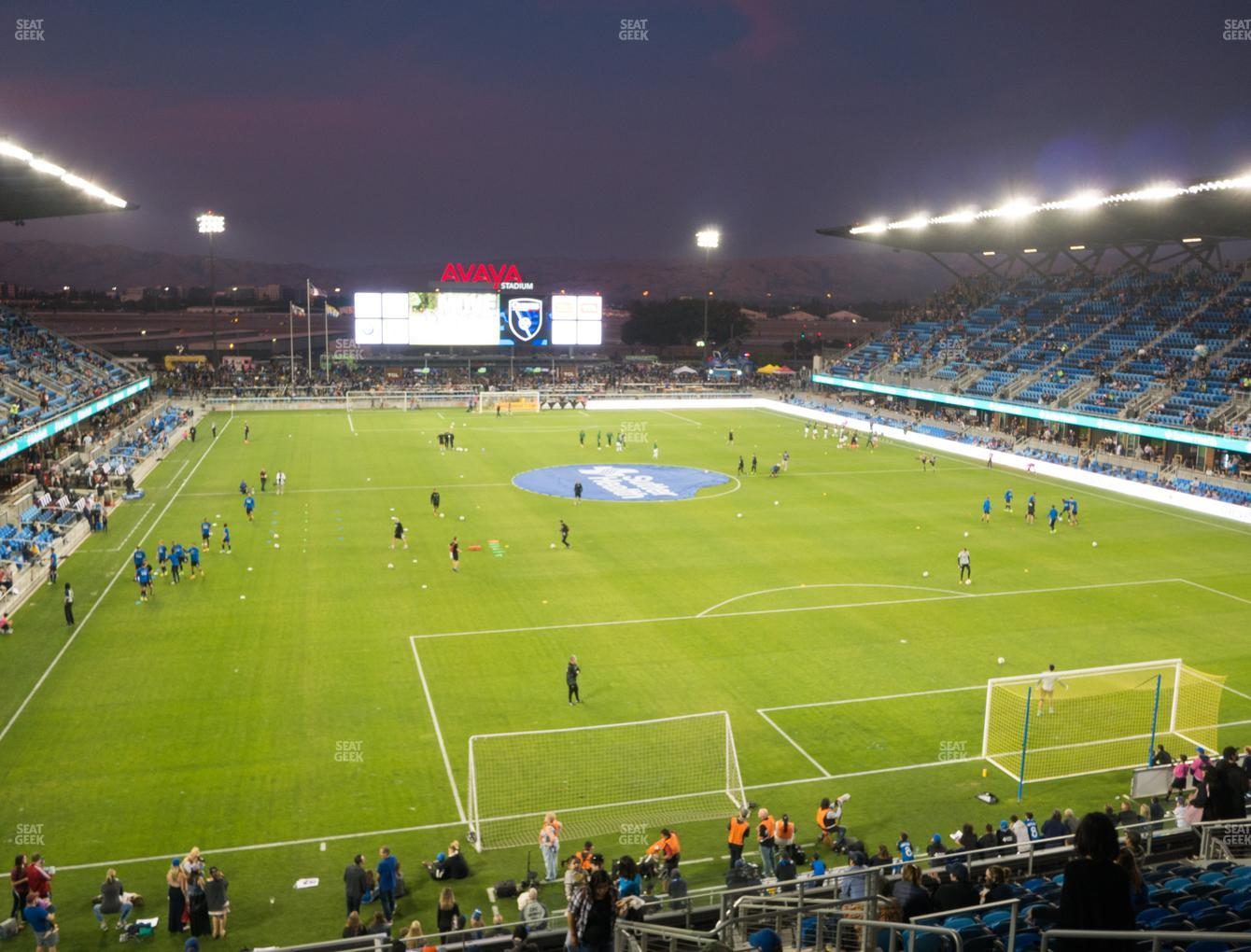San Jose Earthquakes at Earthquakes Stadium Section 115 View