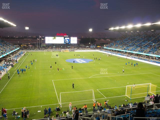 Earthquakes Stadium Section 115 view