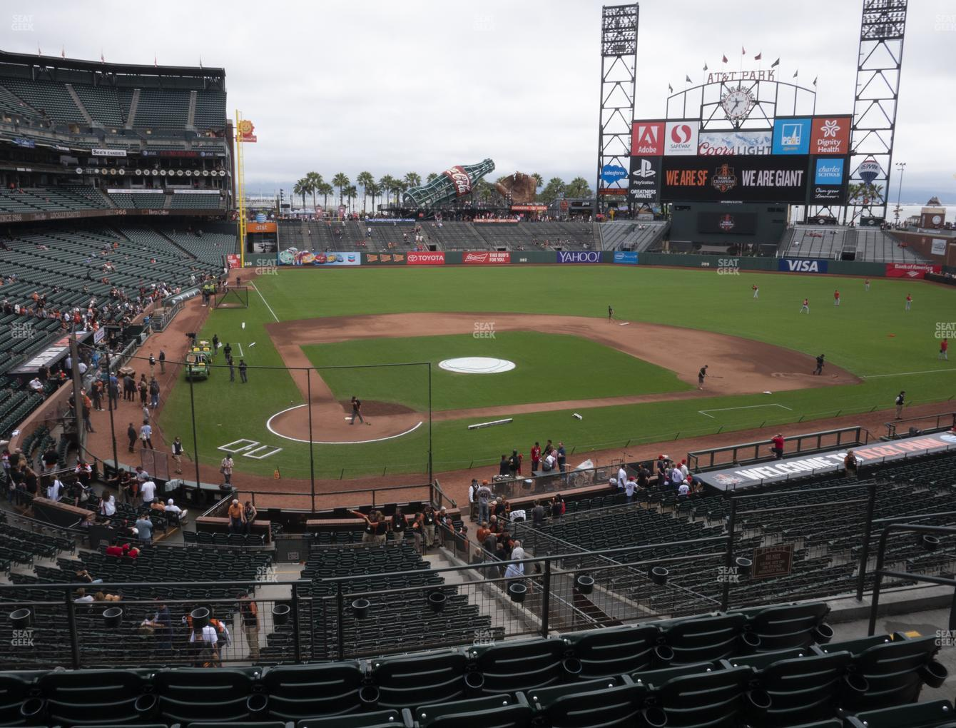 San Francisco Giants at Oracle Park Section 212 View