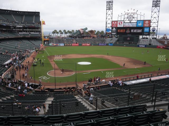 Oracle Park Section 212 view