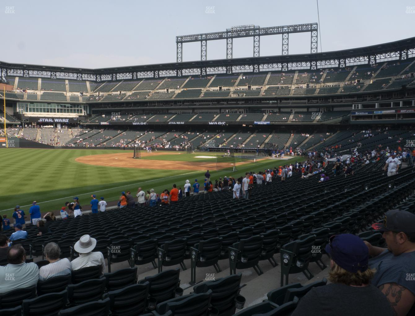 Colorado Rockies at Coors Field Section 146 View
