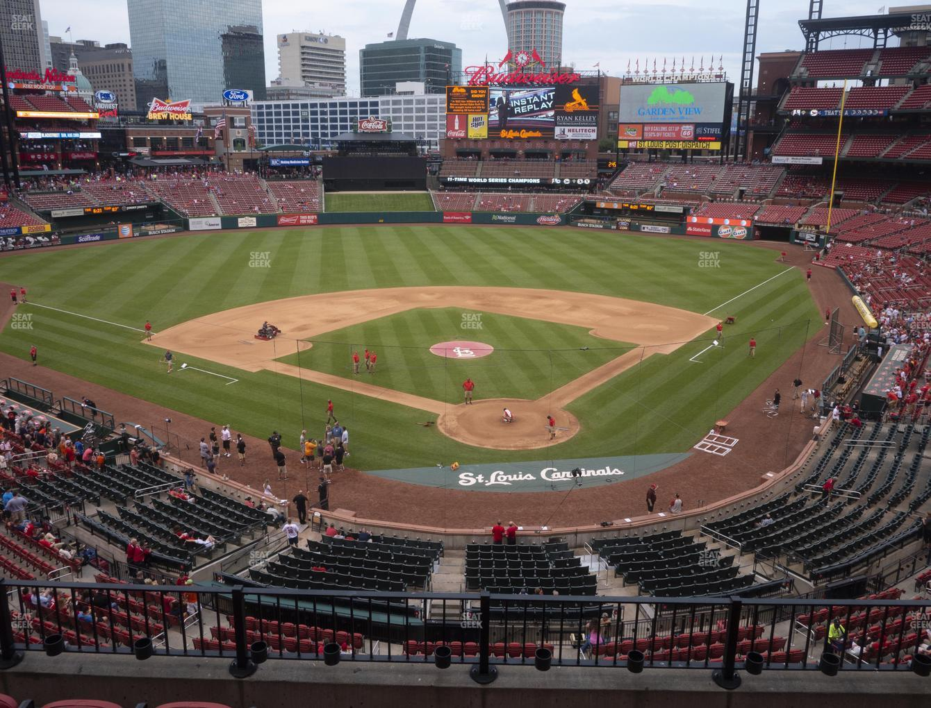 St. Louis Cardinals at Busch Stadium Home Redbird Club 251 View