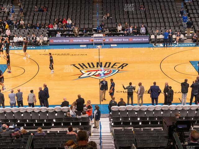 Chesapeake Energy Arena Section 208 view