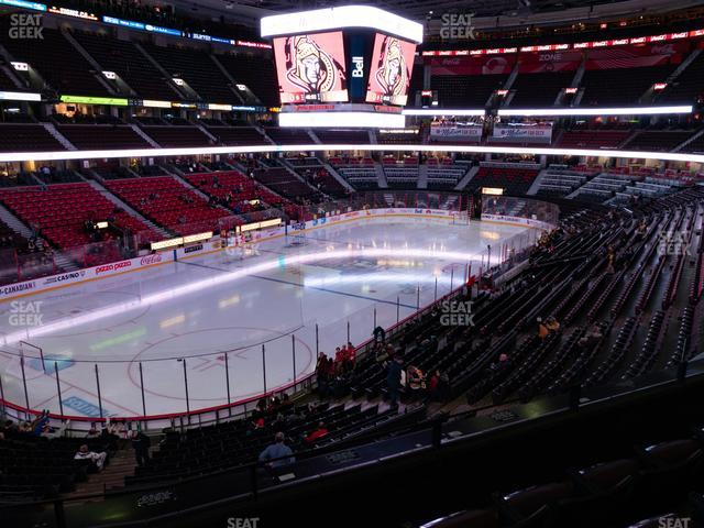 Canadian Tire Centre Section 226 view