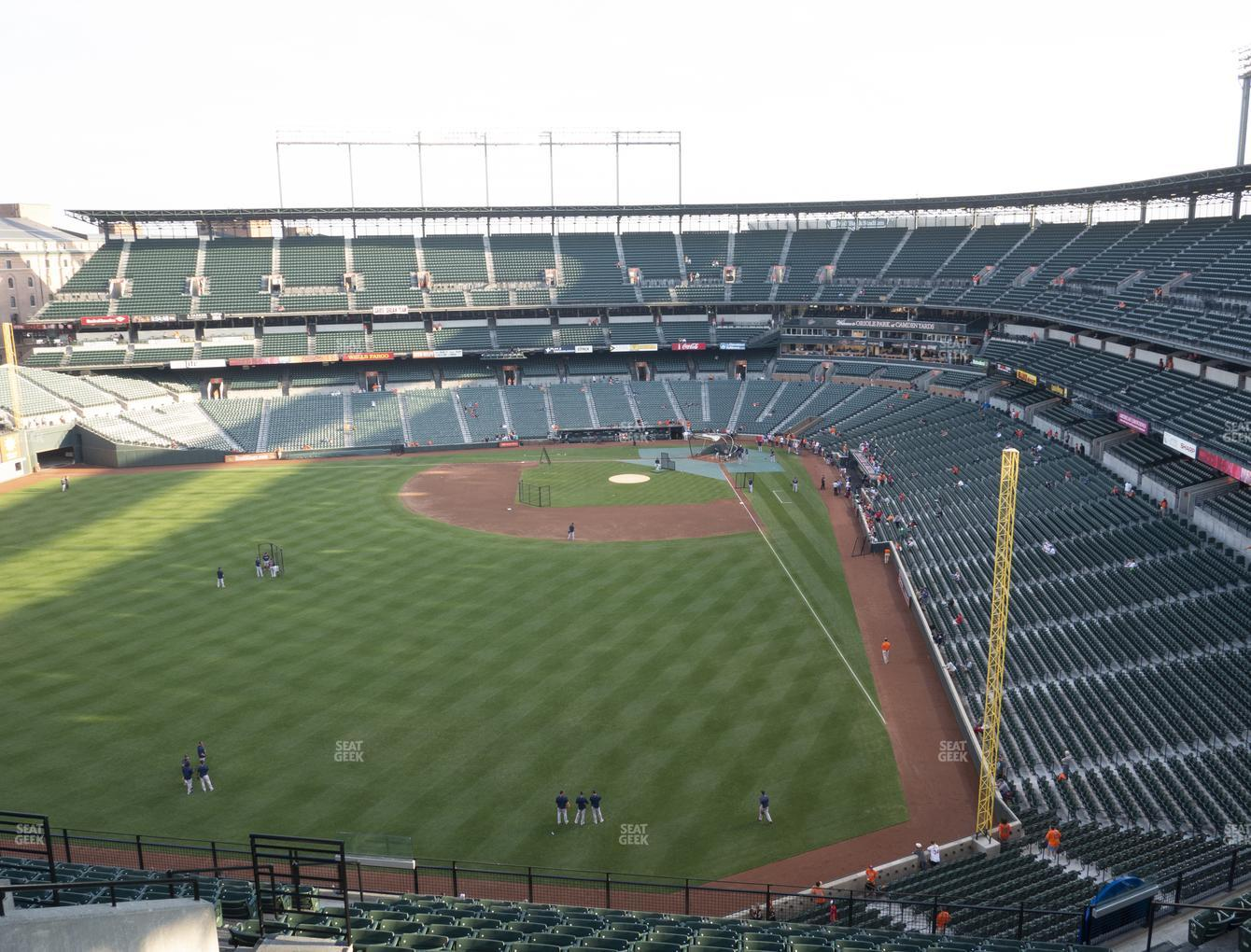 Baltimore Orioles at Oriole Park at Camden Yards Section 382 View