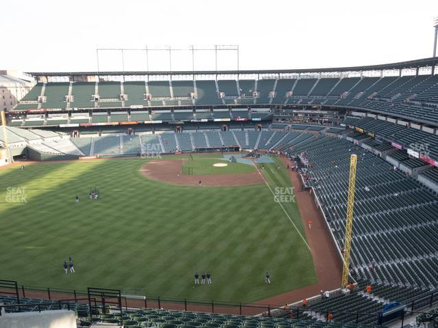Oriole Park at Camden Yards Section 382 view
