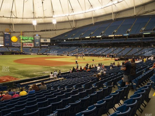 Tropicana Field Section 127 view