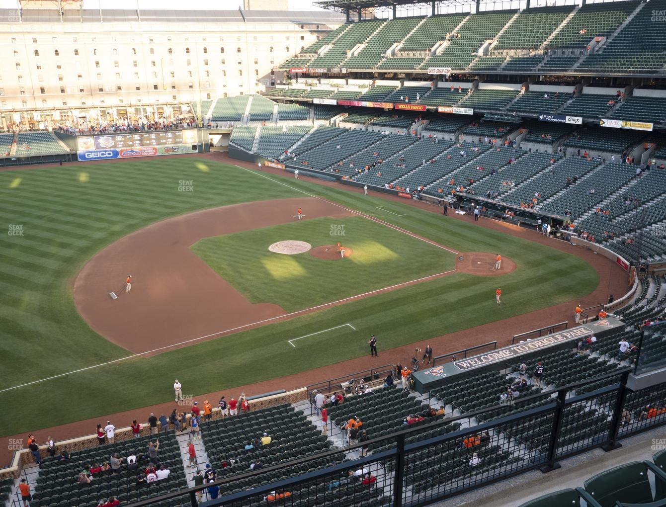 Baltimore Orioles at Oriole Park at Camden Yards Section 358 View
