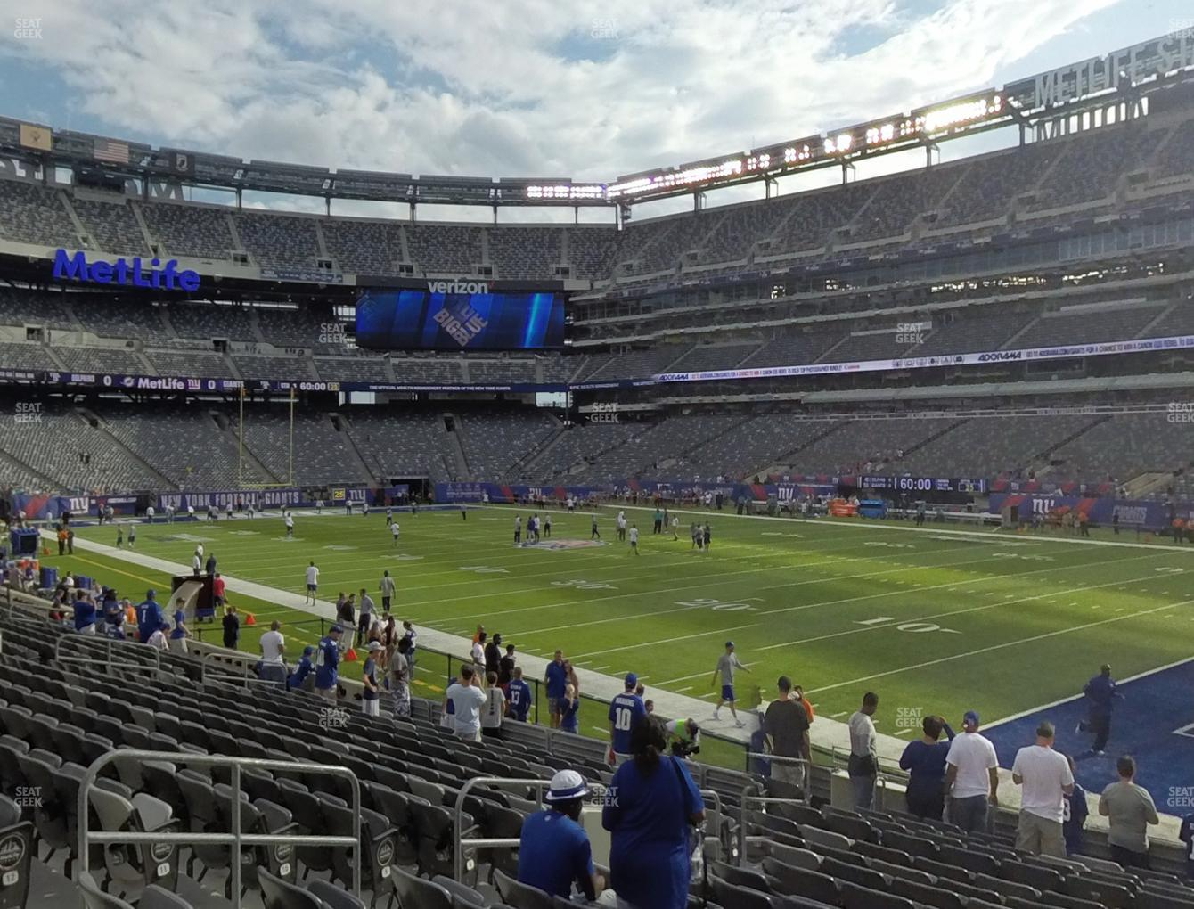 c5359ae6f58 New York Jets at MetLife Stadium Section 108 View ...