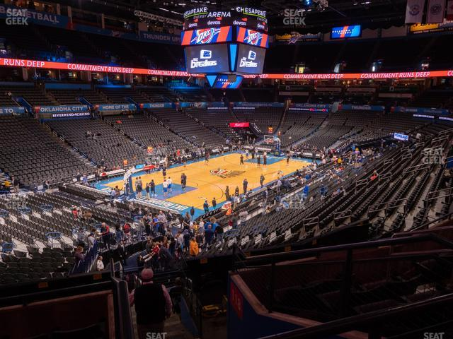 Chesapeake Energy Arena Section 227 view