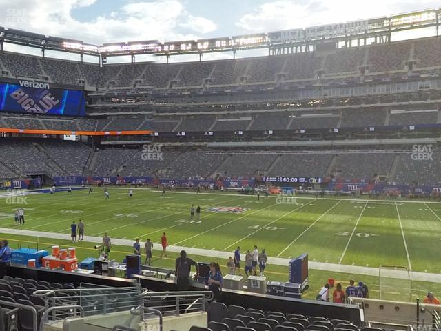 MetLife Stadium Section 111 C view