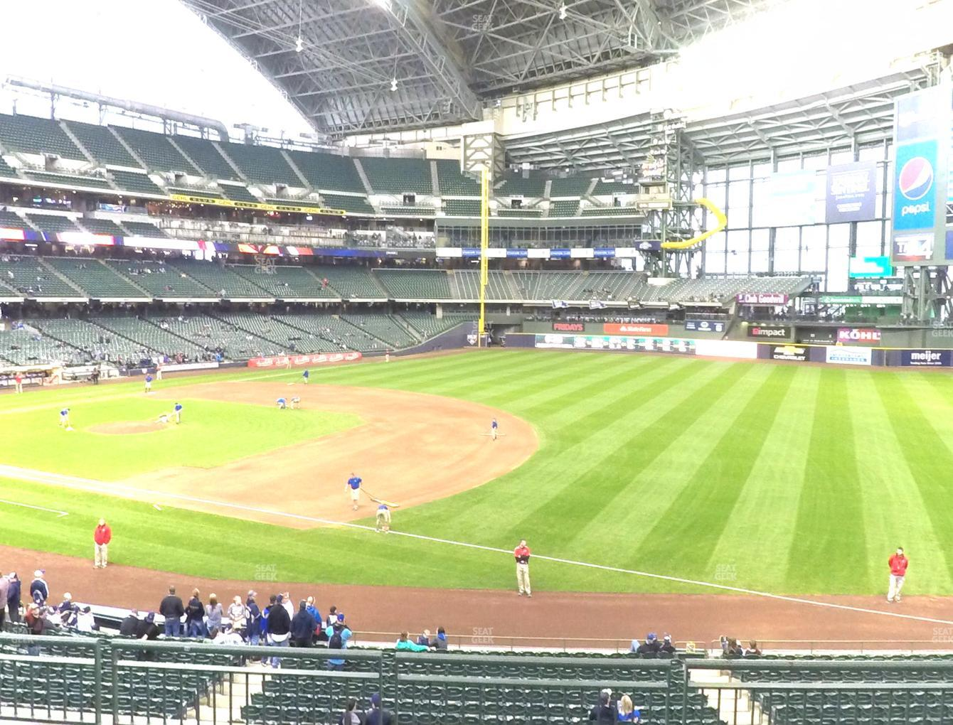 Concert at Miller Park Section 210 View