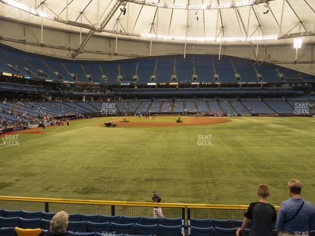 Tropicana Field Section 144 view